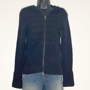 Juicy Couture | Military Wool Zip Sweater Jacket